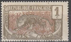 Middle Congo #1 F-VF Unused  (V4138)