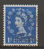 Great Britain SG 588 Used 2 graphite lines on reverse