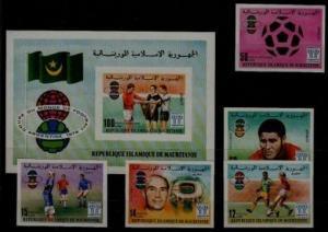 Mauritania 375-77,C182-84 MNH imperf. Football-78