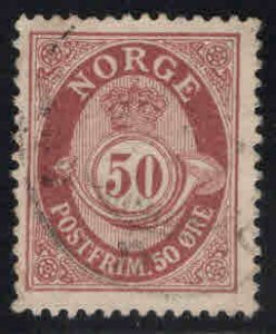 Norway Scott 57 Used Post Horn stamp