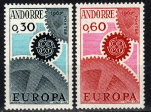 Andorra (Fr) #174-5 F-VF Unused CV $10.75 (X546)