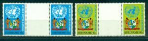 Surinam #710-711  Gutter Pairs  Mint NH  Scott $5.50