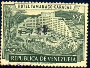 Hotel Tamanaco, Caracas, Venezuela stamp SC#702 Used