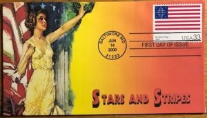 Scott 3403a-d, f-t Historic Flag Set of 20 Heritage Cachet First Day Covers