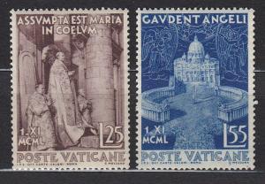 Vatican City - 1951 St.Peter's Basilica Sc# 143/144 - MNH (613N)