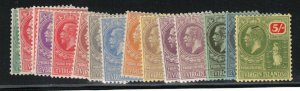 Virgin Islands #53 - #66 Very Fine Mint Lightly Hinged Set - Two Shades Of 1P