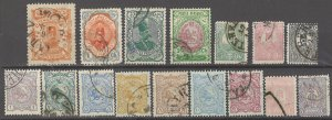 COLLECTION LOT # 3026 IRAN 16 STAMPS 1889+ CV+$26