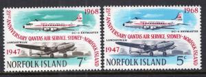 Norfolk Island 119-120 Airplanes MNH VF