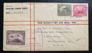 1931 Managua Nicaragua Airmail Cover To San Francisco CA USA