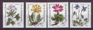 J24980 JLstamps 1983 germany berlin set mnh #9nb204-7 flowers