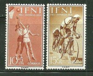Ifni MNH B36-7 Pro-Infancia Sports 1958