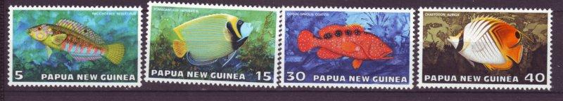 J21839 Jlstamps 1976 png set mnh #442-5 tropical fish