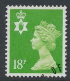 Northern Ireland SG NI47 SC# NIMH34 Used  with first day cancel 18p Machin