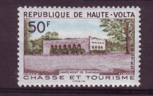 J15506 JLstamps 1962 upper volta a hv of set mh #101 building
