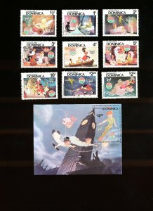 DOMINICA - Scott 679-688 VFMNH - DISNEY - Peter Pan - Christmas - 1980