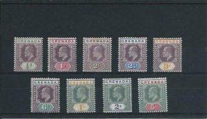 GRENADA 1904-06 SET TO 5s FINE MM SG 67/75 CAT £330