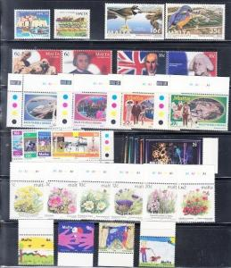 Malta Scott 944 // 1031 Mint NH sets (Catalog Value $55.35)