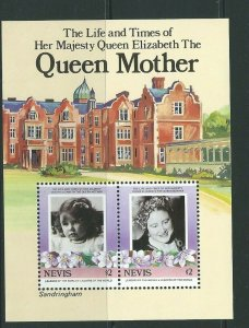 NEVIS SGMS317 1985 QUEEN MOTHER MNH