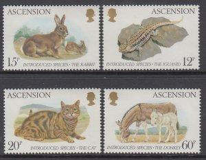 Ascension 336-339 Animals MNH VF