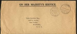 GILBERT & ELLICE 1964 OHMS cover OFFICIAL FREE, ex Tarawa..................84836