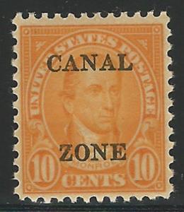 Canal Zone, 1925, Scott #87, 10 orange, mint, N.H., V.F.