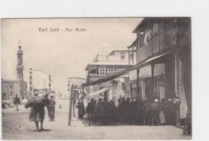 VINTAGE POST CARD , PORT SAID  STREET SCENE    REF P65