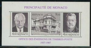 Monaco 1987 Philatelic Bureau S/S Sc# 1607 NH