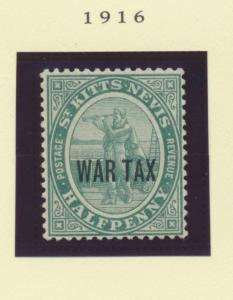 St. Kitts-Nevis Scott #MR1, Mint Never Hinged MNH, Half Penny, Overprinted Wa...