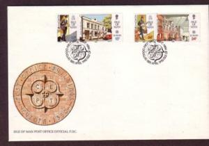 Isle of Man Sc 418-21 1990  Europa stamps FDC