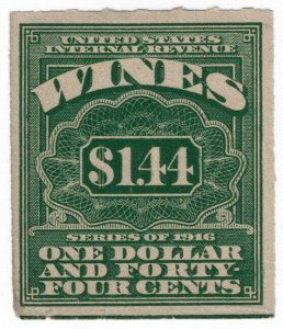 (I.B) US Revenue : Wines Duty $1.44 (1916)