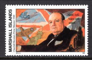 Marshall Islands 251 WWII Churchill Becomes Prime Minister MNH VF