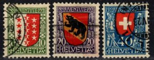 Switzerland #B18-20  F-VF Used CV $96.75 (X2419)