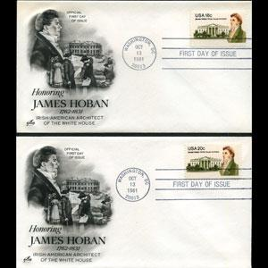 U.S.A. 1981 - FDC-Hoban Set of 2