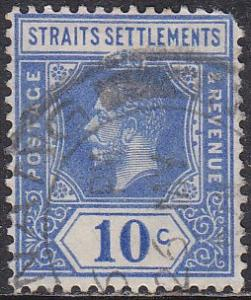 Straights Settlement 190 Hinged Used 1921 King George V
