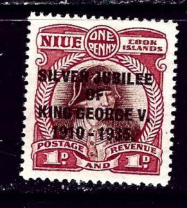 Niue 67 MH 1935 KGV Silver Jubilee