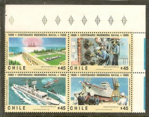 Chile  Scott  840a   Naval Engineers   MNH