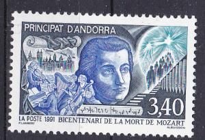 Andorra-French 409 MNH 1991 Mozart