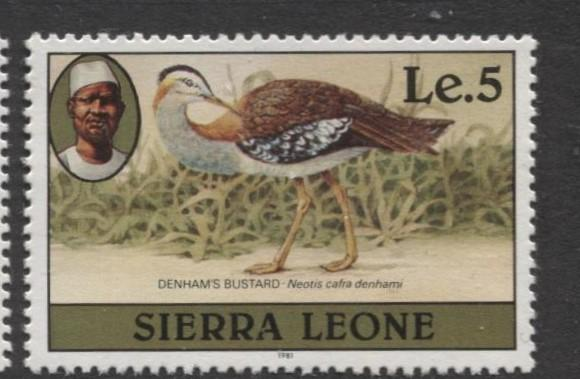 Sierra Leone - Scott 476a - Birds Issue- 1981- MNH - Single 5 le Stamp