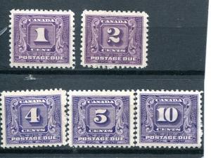 Canada #J6-10 Mint   VF   - Lakeshore Philatelics