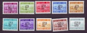 J24535 JLstamps 1971-6 guernsey set mnh #j8-17 postage dues