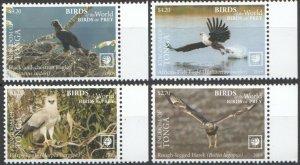 Tonga 2019 birds of prey eagles set MNH michel 2277-80 16 euro