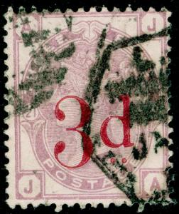 SG159, 3d on 3d lilac PLATE 21, USED. Cat £145. JA