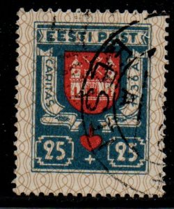 Estonia Sc B30 1936 Tartu Coat of Arms Charity stamp used