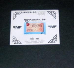 Mexico - 1385 S/S, MNH - EXFIL. SCV - $3.50