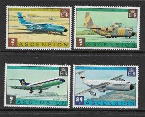 Ascension  185 - 188 (SG 187/90)  Aircraft  - MNH - VF - CV$7.50