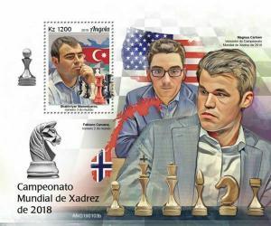 Z08 IMPERF ANG190103b ANGOLA 2019 World Chess Championship MNH