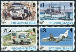 Pitcairn 436-439,MNH.Michel 456-459. UN 50th Ann.Lord Mayor's Show,UN Ambulance,