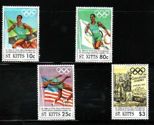 St. Kitts-Sc#409-12- id7-unsed NH set-Sports-Summer Olympic Games-Atlanta-1996-