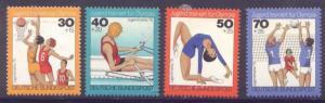 Germany B526-9 MNH Sports, Basketball, Gymnastics, Volleyball, Rowing