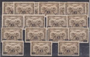 Canada - 1932 6c on 5c Airmail X 18 mint #C3